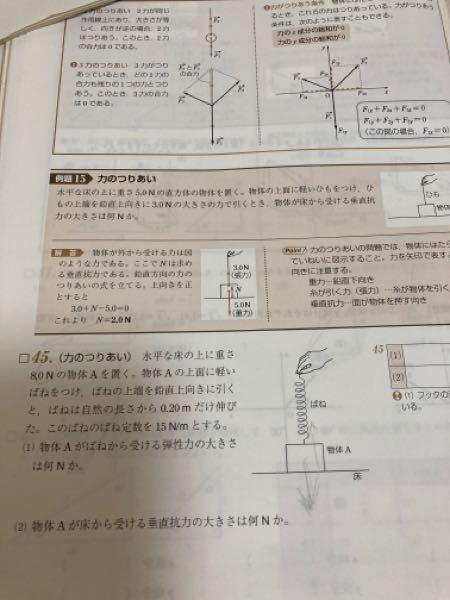 [45]の問題で、物体Aが受ける力は8Nなのでしょうか。9.8はかけないのですか?