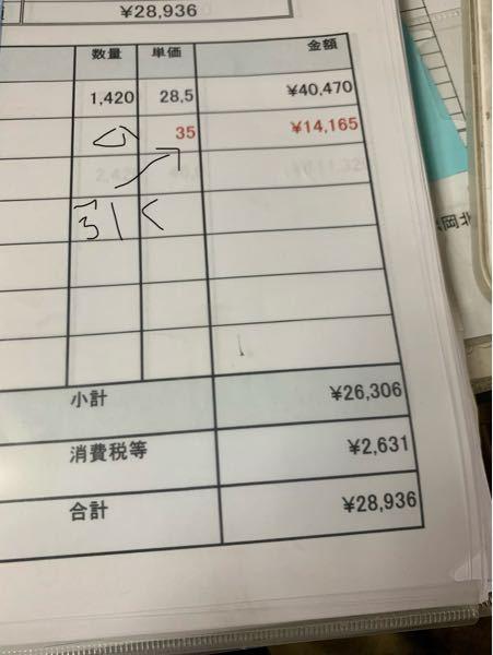数量1420 単価28.5 から35%引き それから10%(消費税) を+して支払いたいのですが 28936円の支払いで合ってますか? よろしくお願いします。