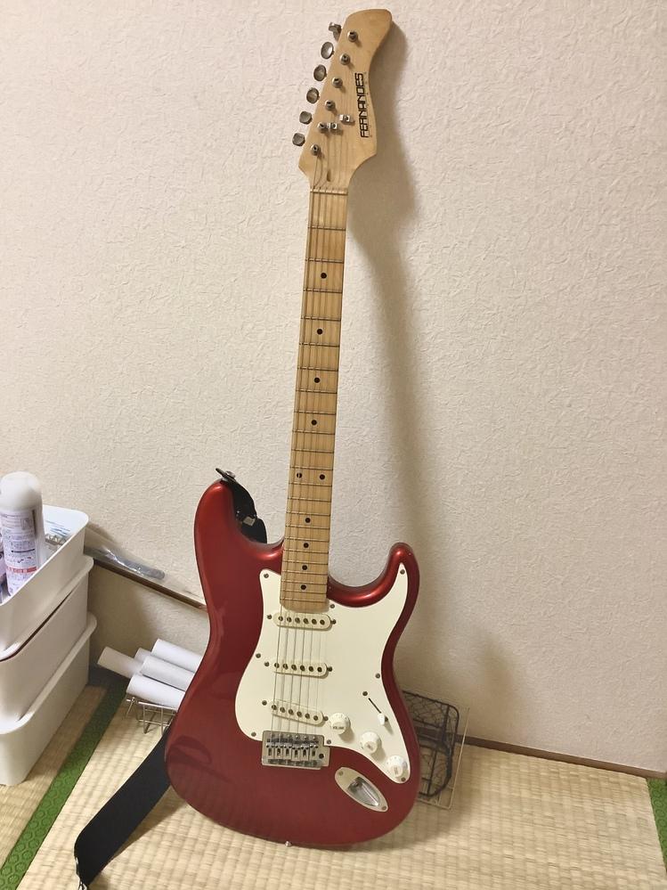 FERNANDESのギターなのですが、保証書がない状態なので型番がわかりません! どなたか写真で判断できる方いらっしゃいますか><? ヘッドの裏にはFG08070115と表記されていました。 FERNANDESのカタログで見たところARS-400に似ている様に思えたのですが自信がありません。。。