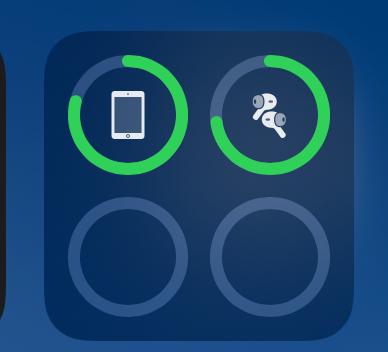 ウイジェットでのAirPodsバッテリー残量で数字が出ない iOS14ですが残量で%表示がどうしても出ません。 これは仕様でしょうか。