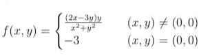 この2変数関数について、 原点での連続性と偏微分可能性と全微分可能性 についてどなたか教えて下さい。 それと恐縮ですが、解説も参考にしたいですので、解説も含めての回答をお願いいたします。 よろしくお願いいたします。