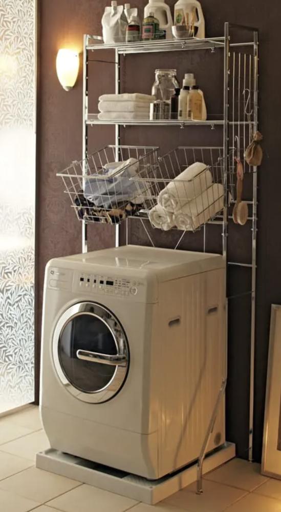 画像のドラム式洗濯機はなんというメーカーのものか分かりますか? 通販サイトの洗濯ラックのイメージ写真で使われているのですが、可愛いと思い気になっています。