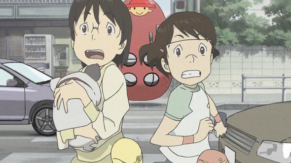 電脳コイルの質問です。 ヤサコとイサコの後ろに居る赤い奴は何でしょうか?