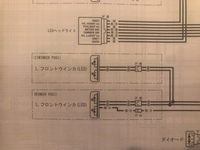 ホンダCB1100RSのフロントウインカーについて。 社外品のウインカー(highsider エンタープライズ ウインカー)変えようとしてますが、サービスマニュアルの配線図を見ると左右それぞれ2種類のウインカーが記載されてました(画像)    型式による違いかと思いきや、パーツカタログにもカプラーが2個あるイラストがありました(126ページ)  https://2rom-prd-dat...