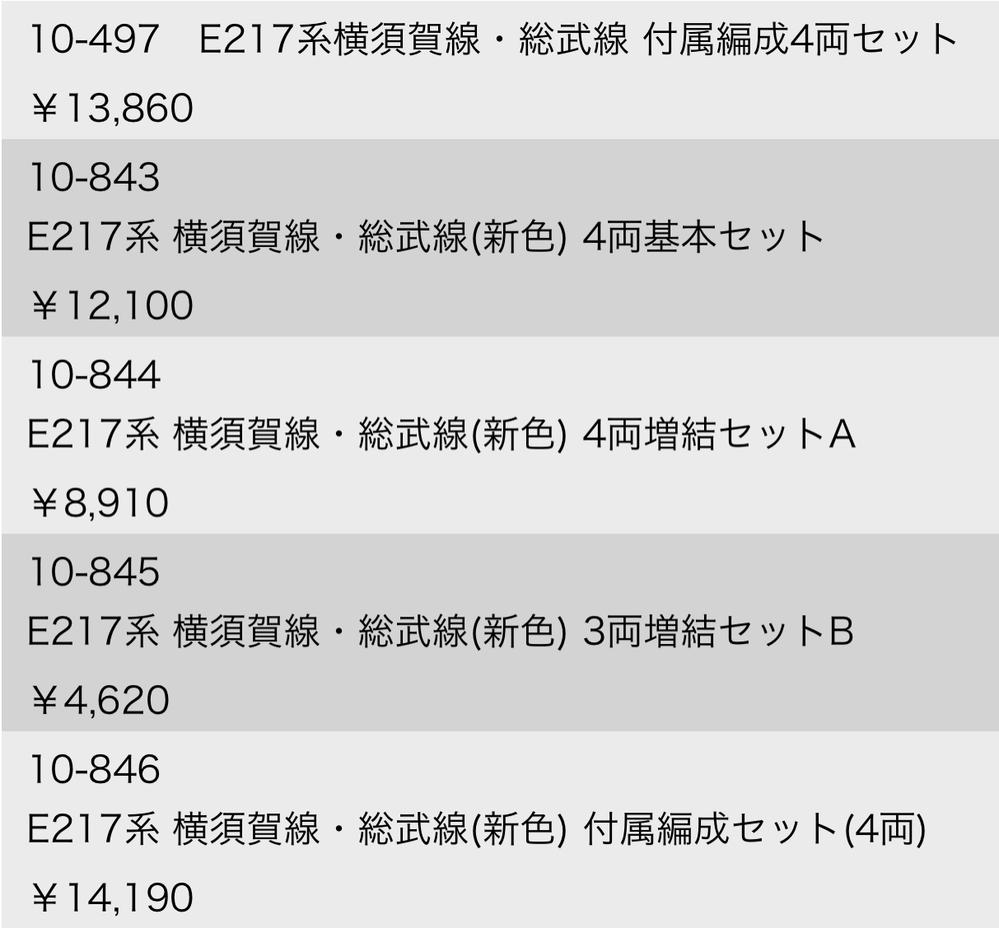 kato の nゲージ e217系総武線快速 全15両編成を販売してるサイトはどこですか? Amazonでは販売してないやつもあった