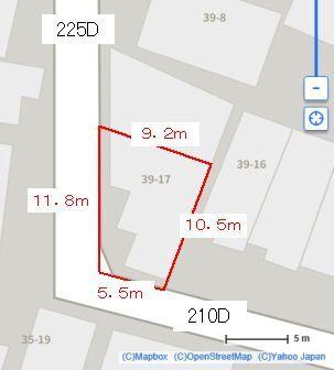 相続税申告のための土地の評価額ですが、添付の図のようなパターンの場合は、奥行価格補正率はどう計算すればよいでしょうか? 普通住宅地区で、上底5.5m、下底9.2m、高さ10.5mの準角地の台形です。いろんなサイトを調べましたが該当するパターンが見つかりません。知っている方がおられたらお教え願います。