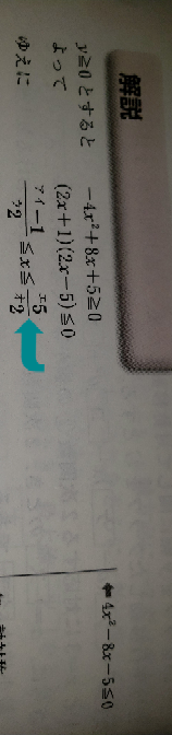 数学Iについて この問題でx=1/2,-2/5になると思うのですが何故解答は符号が変わるのでしょうか?