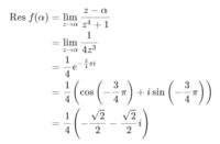 留数定理に関する問題です。 以下のサイトの 3.Step4:それぞれの積分領域内の特異点における留数を求める のところで写真の一行目からなぜ二行目のように変換できるのかが分かりません。 よろしくお願いします。 https://www.momoyama-usagi.com/entry/math-cp-analysis06#i-6