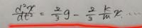 微分方程式です。 この微分方程式の解き方がわかりません。。 どなたか教えて頂きたいです。  変数分離法を使うのですか?