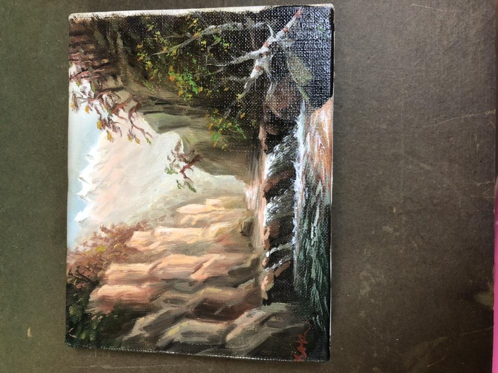 この絵は誰の油絵か分かりますか? サインはKaRとあります。