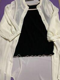 このトップスに黒のプリーツワイドパンツに黒のスニーカーはおかしいでしょうか? こーゆー系の服を初めて買ったので合わせ方が分かりません。 下はこーゆーのがいいよってやつがあったら教えて下さいm(__)m