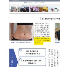 ダイエットのビフォー、アフターの写真は、素材サイトからの購入品なんですか?