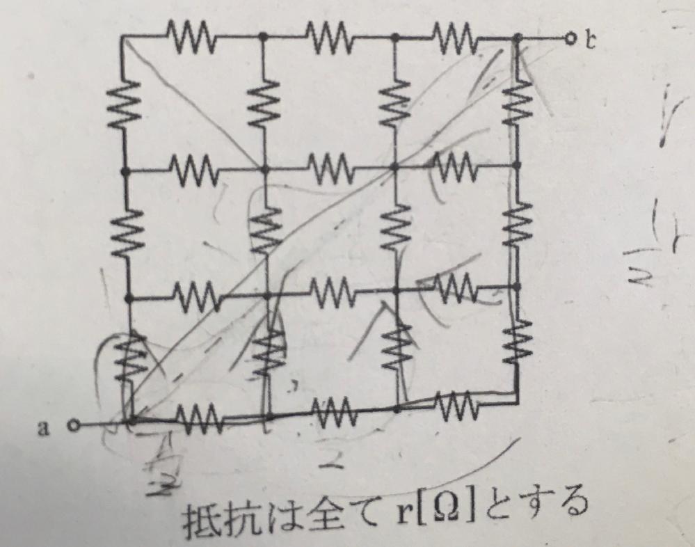 ab間の合成抵抗Rabについて教えてください。 出来れば図等があると有難いです。