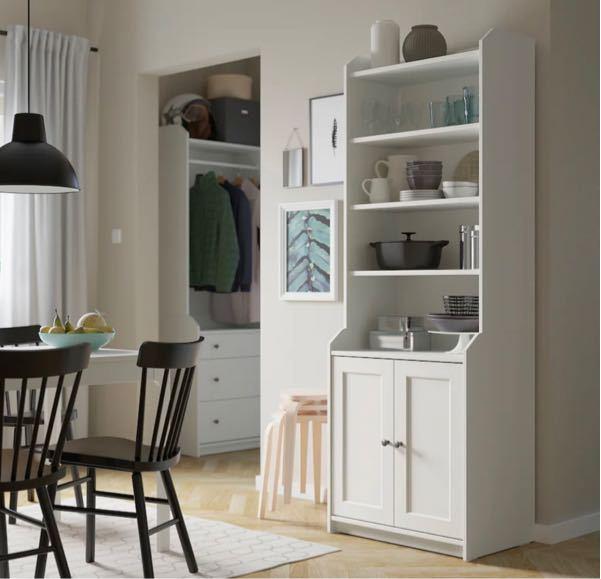 IKEAのハウガというキャビネットをキッチンの食器棚、レンジ台にすることはできますか? 火事になったりしないか気になります。