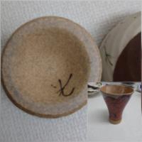 こちらの食器ですが、この裏の刻印が分かる方おられますか? 赤鬼、青鬼、地蔵の絵が描いた湯呑?です。  ご助力のほどお願い申し上げます。
