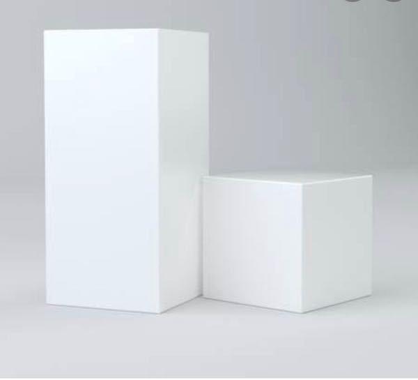 美術館や、ショップなどに置いてある白い箱はどこで売ってますか? またなんて商品名検索すれば出ますでしょうか?
