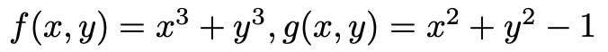 極値問題です。以下の式でg(x)=0の時のf(x)の極値を求めよという問題が分かりません。どなたかお願いします。
