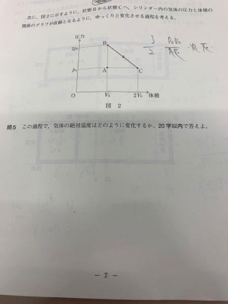 この問題なのですが答えを見ても全くわかりません。(双曲線の一部や絶対温度の値が大きい等温変化を表す双曲線ほど0から離れるなど。)教えて頂きたいです。