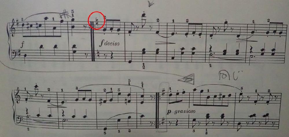 ピアノで2重線の最初にナチュラルがあった場合、次の2重線までナチュラルなのでしょうか? ご存知の方教えてください