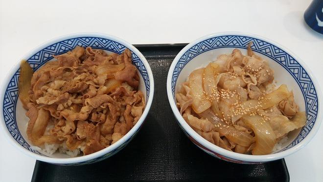 牛丼(画像左)と豚丼(画像右)、どっちが好きですか? ○両方苦手だけは不可