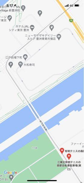 東京、ゆりかもめの 市場前駅から有明テニスの森駅まで歩いて行けますか? この画像のゆりかもめルートに歩ける道もあるのか教えていただきたいです。