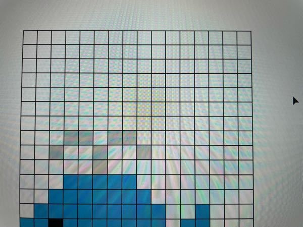 Illustratorについて質問です。 写真のようにアートボードを新規作成して、オブジェクト→パス→グリッドに分割という手順でドット絵を作成しました。 しかし、線の消し方が分からず困っています。 ど
