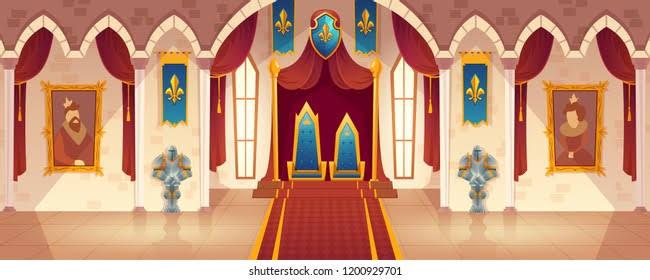 王室?玉座の間?みたいな所によくある、壁にかかってる掛け軸みたいなやつ(画像中央から上)の名称ってなんですか?