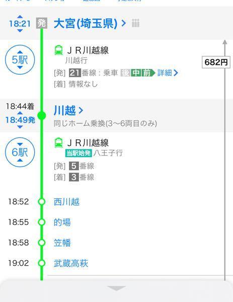 ヤフーの乗換案内アプリである同じホーム乗換(3~6両目のみ)とはどういう意味ですか、?今度電車で移動しなければならないのですがあまり乗らないのでよく分かりません、よければ詳しく教えて頂きたいです。