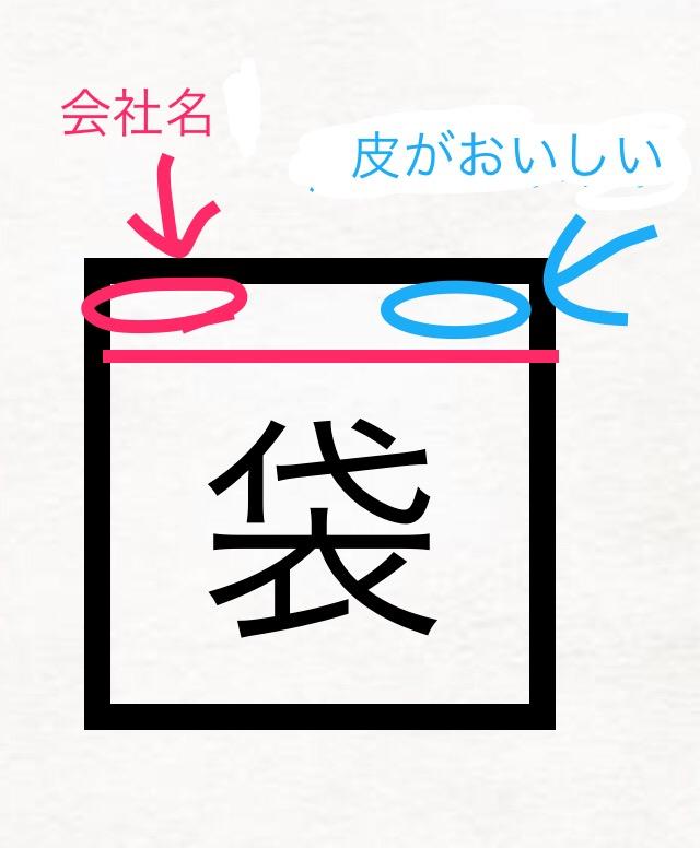 """この商品もしくは会社名を教えて下さい! 食べ物の袋 片手で持てる大きさおそらく黄色 左上は会社のロゴで赤色、英語で筆記体で書かれている。先頭には動物?のキャラクターがある。 右上は""""皮がおいし..."""