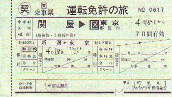 新幹線の乗車券について。 免許合宿の際、新幹線の往復特急券を支給されました。 しかし、有効期限が画像のように○月○日から7日間とありますが、教習所からは当日限り有効と説明されました。 どちらが正しいのでしょうか? 画像と同じ乗車券を支給されました。