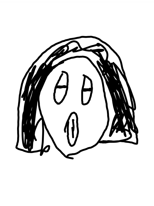これなんてキャラクターですか? ホラー漫画のキャラで、目と口がたてについてる女?です