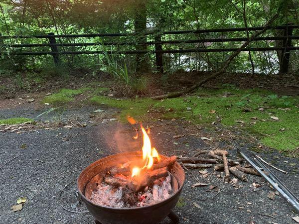 炎の煙が女性の顔に見えますか?数日前に一人キャンプをした時にちょっと気持ち悪い場所でした。
