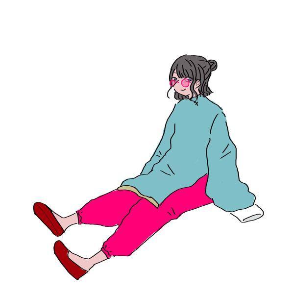 このイラストの配色で悩んでいます。 元々ピンクのサングラスを描きたくて描き始めたのでそこの色は変えたくないです。 それを前提に、髪、トップス、ボトムス、靴の配色のアドバイスが欲しいです。。 そもそも人体のデッサン等、画力的に見苦しい点は多数あるとは思いますがよろしくお願します。 元々塗っている色は無視してくれて結構です。