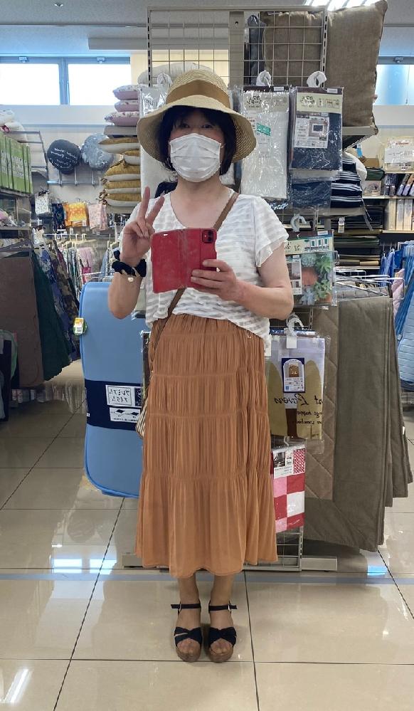 今日も暑いですね〜。 日焼けしないように、 注意したいものです。 似合っていますか? 女装です。