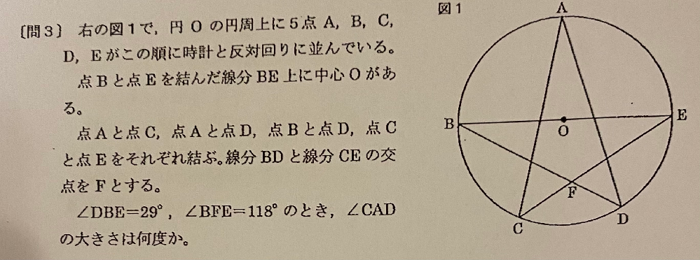 中3の角度の問題です。どのように求めればいいか分かりませんでした。どなたか解説お願いします。