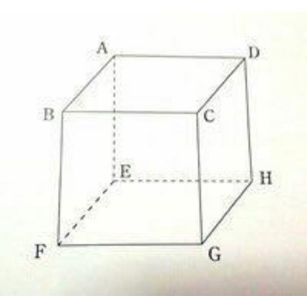 至急!!! 数学Aの問題です。 ・次の平面や直線を全て答えなさい。 ①平面ABCDと平行な平面 ②平面ABCDに垂直な直線 ・次の2直線がなす角を求めなさい。 ①直線AEと直線AD ②直線BCと直線GH ③直線BDと直線EH ・次の2平面がなす角を求めなさい。 ①平面ABCDと平面CGHD ②平面BCGFと平面AEGC