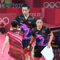 水谷・伊藤ペアが金メダルを取りましたが顔で勝負したら中国の方が優勢勝ちではないでしょうか?