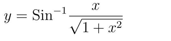 これってどーやりますか? 答えは1/1+x^2だそうです