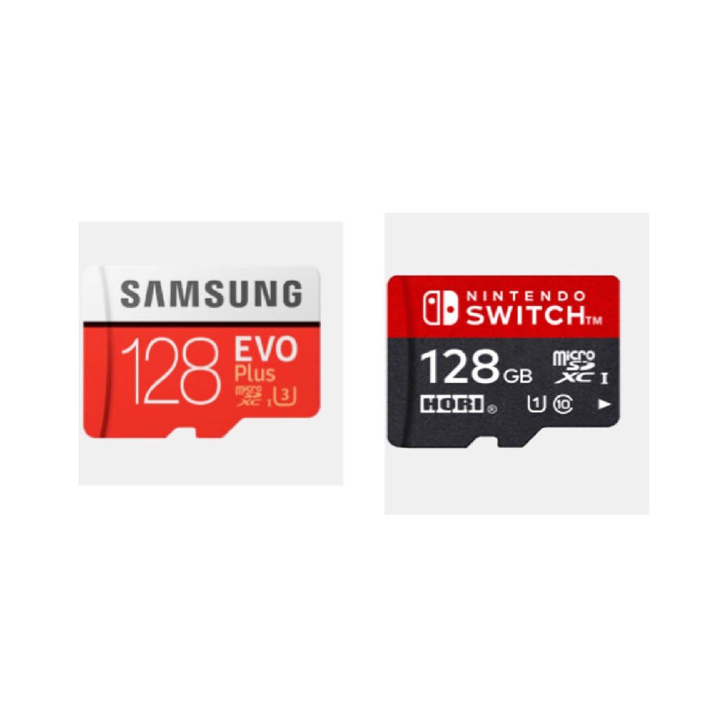 ニンテンドースイッチのSDカード、此方2種類ありますが違いはなんですか? 又、左のSDカードを購入しようとしてるんですが使えますか?