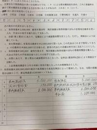 (1)のcの車両運搬具減価償却累計額の求め方を教えてください