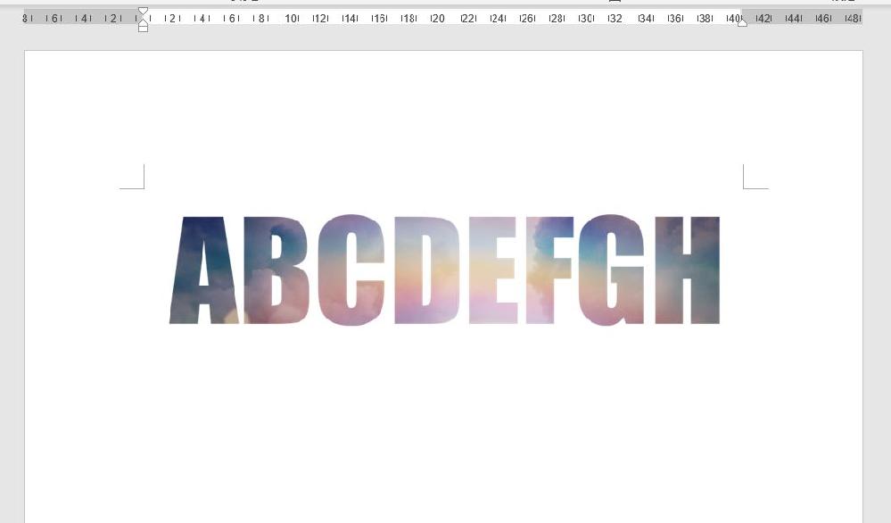 Wordだけで下の絵のように 文字の中をグラデーションにしたり 文字の中に絵や画像を入れる事は出来ますでしょうか?
