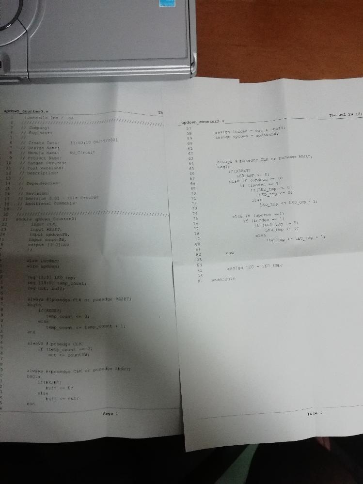 Python初心者です! この画像のようにプログラムを書き込んだらダウンカウンタの部分が動きませんでした。 どこが間違っているかわかりません! 助けてください!