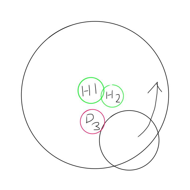 42 FF14 エデン再生零式4後半のヒラについて サブジョブH2で練習しています。 後半のシングルの後のシェルクラッシャーの時ですが、H1が真ん中にD3が外周までいかないというptに当たる時があり、逃げ場がありません。この場合H2はどこにいくものなのでしょうか。 ※図に記載のないロールは、マクロの配置についているものとします。