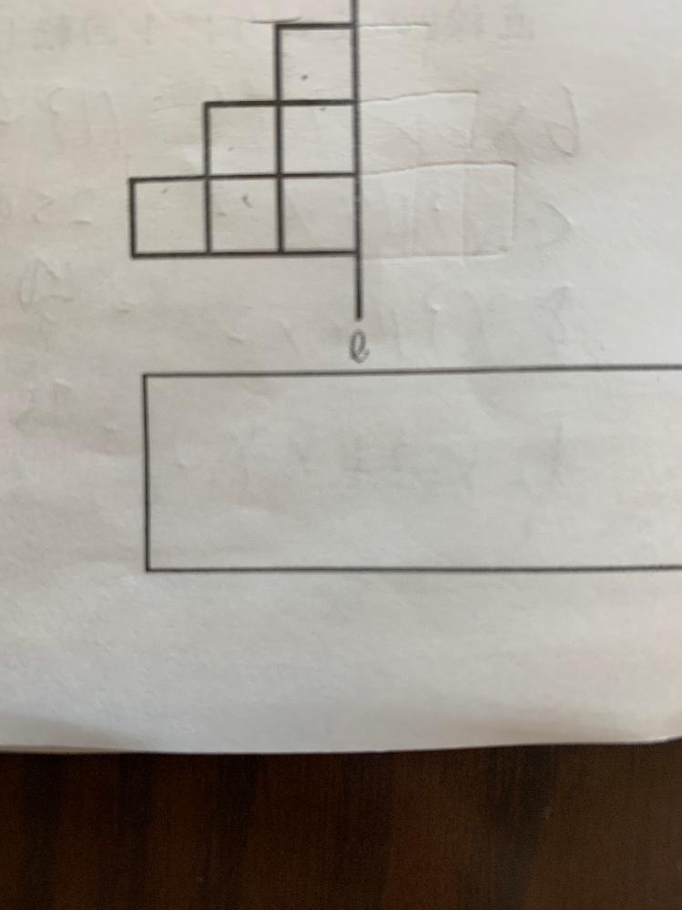 1辺が2cmの正方形を6枚を組み合わせた図形を直線lのまわりに1回転してできる立体の体積を求めなさい。 中学受験算数の解き方で教えてください。 よろしくお願いいたします。