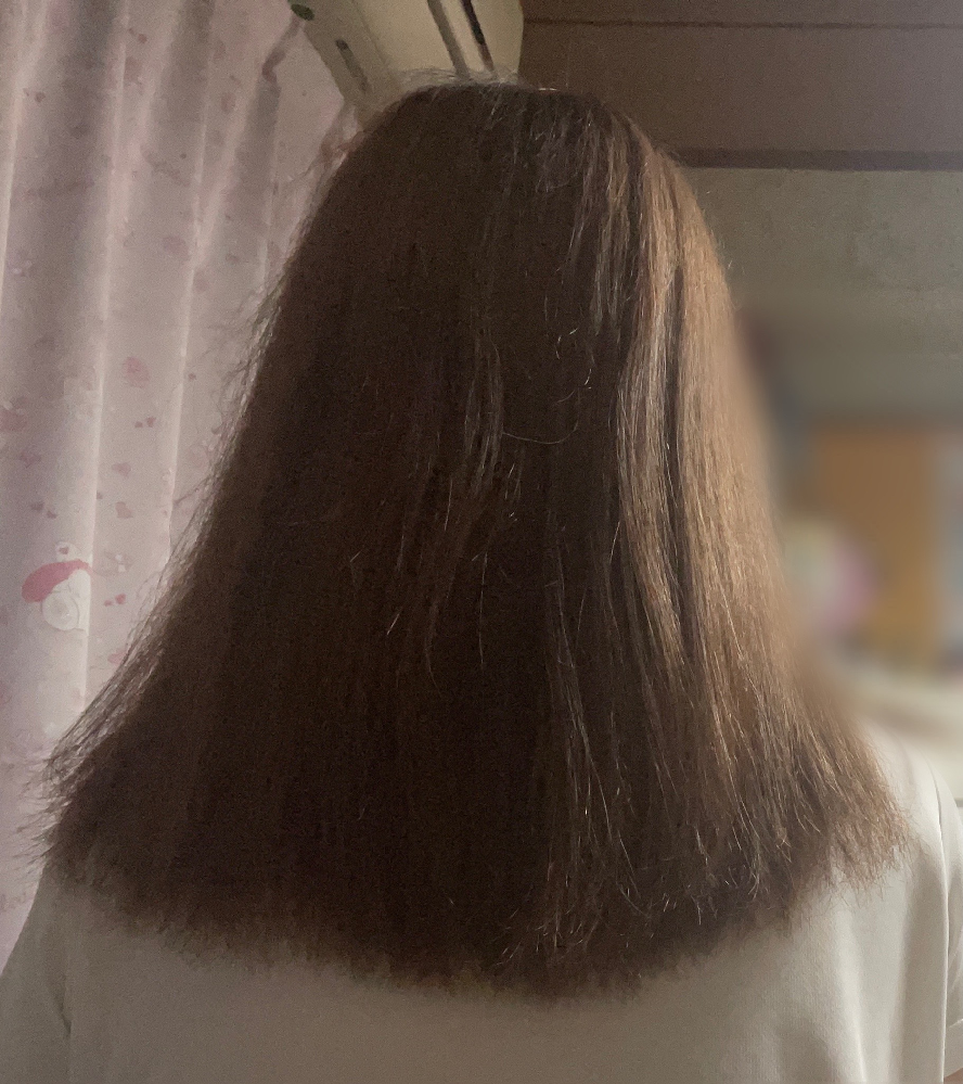 この前美容室で髪カットしてもらいました。 シャンプーしたあとに髪の長さがバラバラ なのかなと思いました。 現役美容師さんにお聞きしたいです。 長さがバラバラになってるか教えて欲しいです。 後ろ姿が見にくくてすみません! どうしても毛先がハッキリ写らず… もしバラバラなら他の美容室行こうと思うの でお答えしていただきたいです。