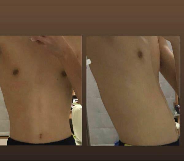 今の自分の体です。ジムに通うことにしました。 ①重りをつけた腹筋 週4 10×5セット ②大胸筋のトレーニング 週2 これを始める場合、見た目に変化を感じられるようになるのは、それぞれ大体どの...