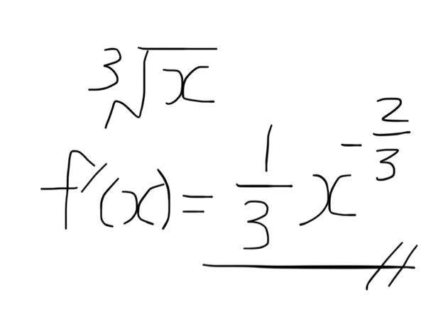 数学で、微分すると写真の通りになります?間違っていたら教えてください。