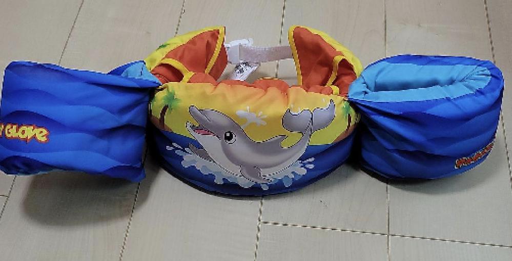 子供のプールについて。 こんど初めて子供とプール経いきます。こちらのラッシュジャケットのようなものを着けていくのはおかしいでしょうか??