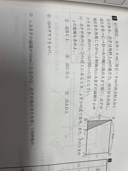 (急募)至急お願いします この問題の(2)のグラフ以外の問題の説明お願いします