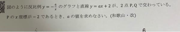 交点の問題です。写真にある問題を解いたのですが、答えが a=-1/2 になりました。合っているでしょうか?